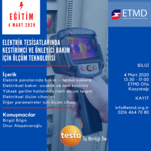 """ETMD Eğitim """"Elektrik Tesisatlarında Kestirimci Ve Önleyici Bakım Için Ölçüm Teknolojisi"""" 1"""
