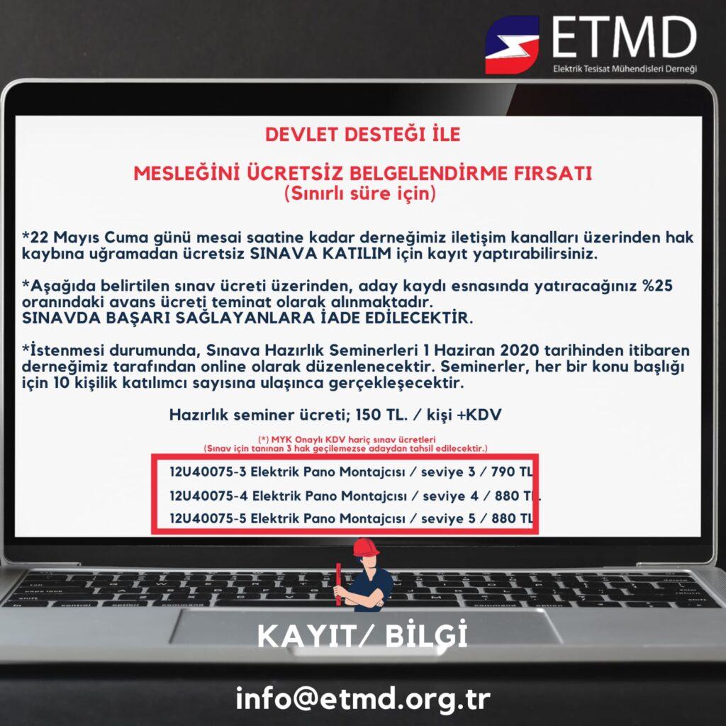 ETMD MYK Sertifika Programı 1